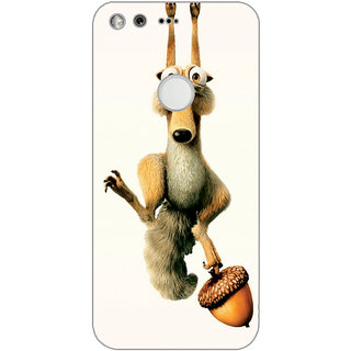 GripIt Hanging Squirrel From IceAge Printed Back Cover for Google Pixel XL