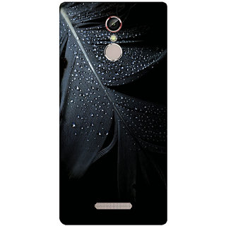 GripIt Black Feather Printed Case for Gionee S6s