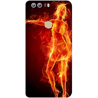 GripIt Girl On Fire Printed Case for Huawei Honor 8