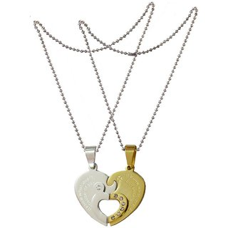 cfa37fee7c Men Style Couple I Love you And Key Necklace Combined Heart for Valentine's  Day Gift (
