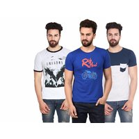 Stylogue Trendy Printed T-shirts For Men (Pack of 3)