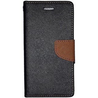 Micromax Canvas Spark 2 Q334  Mercury Wallet Flip case Cover (BROWN)