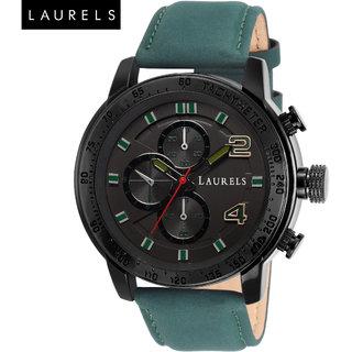 Laurels Curren II Black Dial Men's Watch- Lo-Crn-ll-020402