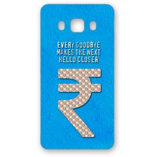 SAMSUNG GALAXY J5 Designer Hard-Plastic Phone Cover from Print Opera - Sign Of Rupee