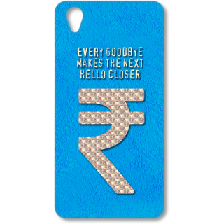 ONE PLUS X Designer Hard-Plastic Phone Cover from Print Opera - Sign Of Rupee