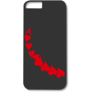 Iphone5-5s Designer Hard-Plastic Phone Cover from Print Opera - A Of Heart