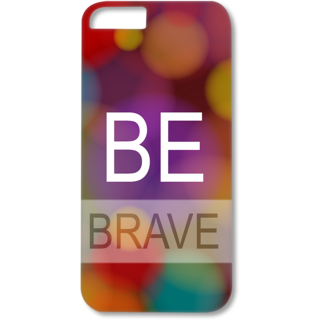 Iphone6-6s Plus Designer Hard-Plastic Phone Cover from Print Opera - Be Brave