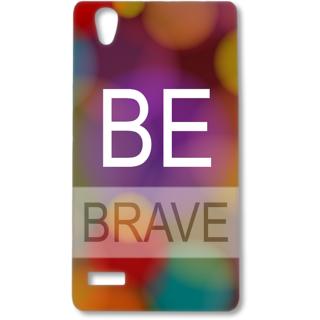 Oppo F1 Designer Hard-Plastic Phone Cover from Print Opera - Be Brave