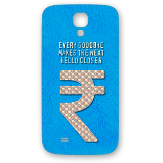 SAMSUNG GALAXY S4 Designer Hard-Plastic Phone Cover from Print Opera - Sign Of Rupee