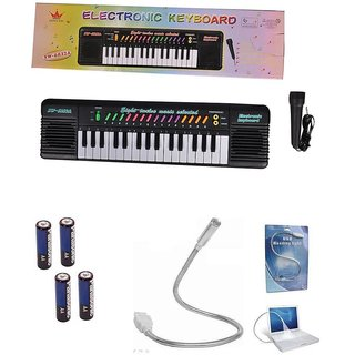 MUSICAL ELECTRONIC PIANO KEYBOARD WITH MIC With Multi Freebies & Free Shipping