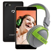 Reach Cogent N+ (1GB+ 8GB, Quad-core, Android 5.1 Slim Phone) (With Headphone Worth Rs 999)