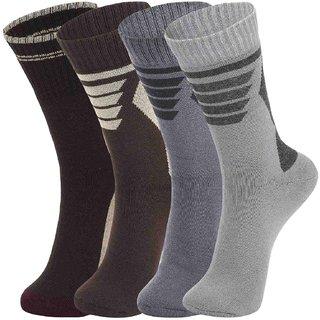DUKK Multi Pack Of 4 Full Length Socks