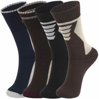 DUKK Multi Pack Of 4 Full Length Socks