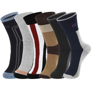 DUKK Multi Pack Of 6 Full Length Socks