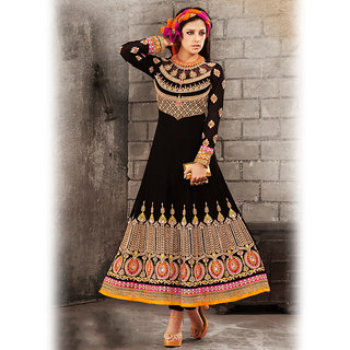 Black Anarkali Style Suit