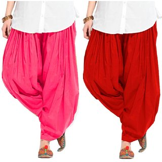 Stylobby'S  Multicolor Cotton Patiala Salwar (Pack Of 2)