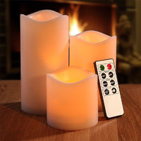 Set Of 3 LED Candles With Remote