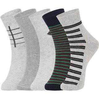 DUKK Multi Pack Of 5 Ankle Socks
