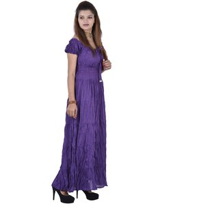 Uttam Black Plain A Line Dress