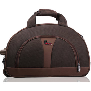 F Gear Cooter Polyester Brown Small Travel Duffle bag-20 inch