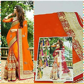 Designer Exclusive Fancy Latest Stylish New Color Bollywood Sarees
