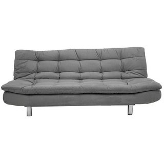 Space Interior Grey Color Mushi Fabric 3 Seater Sofa Cum Bed