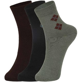 DUKK Multi Pack Of 3 Ankle Socks