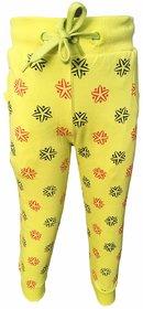 Lilsugar Girls Yellow Star Print Payjama