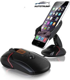 AUTOTRUMP -Dashboard Car Stand Mount Cradles Mouse Shaped One Button Suction CupFor - Ford Figo Aspire