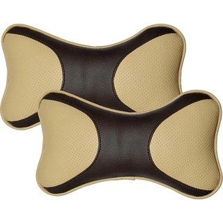 Pegasus Premium Leatherite Car Pillow Cushion For Tata Tiago (Rectangular, Pack of 2)