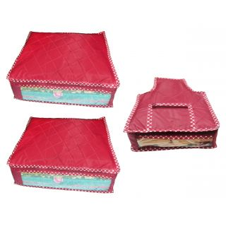 Combo deal-Multipurpose 2pcs saree cover sari cover and 1pcs blouse cover  travel bag