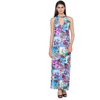 Western Standard Geometrical Printed Maxi Dress
