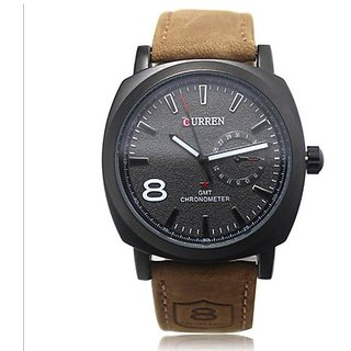 Curren Unisex SS Stylish Quartz Analog Watch Black