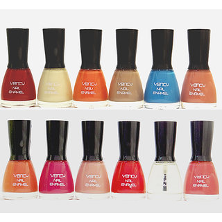 vency nail polish Multicolor glossy pack of 12