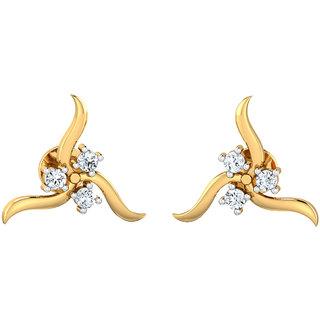 Certified Diamond 0.15ct Solid Gold Earrings