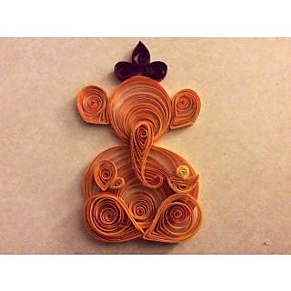 Handmade quilling paper ganesh for home decor buy for Quilling home decor