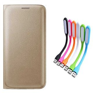 Buy Limited Edition Golden Leather Flip Cover for Micromax Canvas
