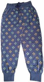 Lilsugar Girls Blue Printed Payjama