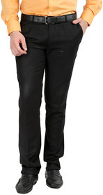 Gwalior Premium Black Slim Fit Formal Trouser
