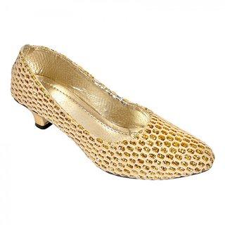 Altek Desginer Checkerd Golden Heel Ballerina (foot1335golden)