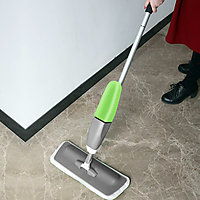 Kawachi Spray Mop - Floor Mop With Removable Washable Cleaning microfiber Pad And Integrated Water Spray