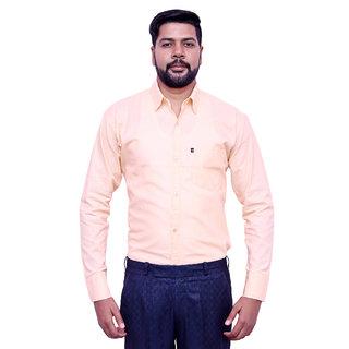 LONDON LOOKS BEIGE Men's FORMAL Poly-Cotton Shirt