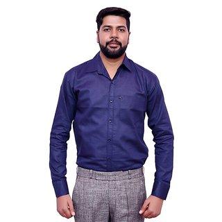 LONDON LOOKS PURPLE Men's FORMAL Poly-Cotton Shirt