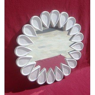 Wooden Round Decorative Mirror Frame