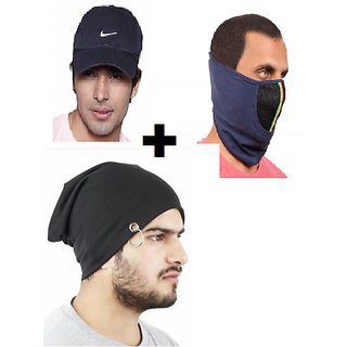 a5f9d810c00 Buy caps for man or combo offer or causal cap with beanie cap and face half  mask Online - Get 59% Off