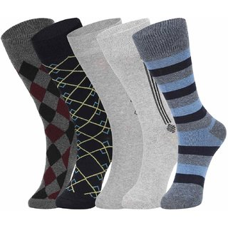 DUKK Multi Pack Of 5 Full Length Socks