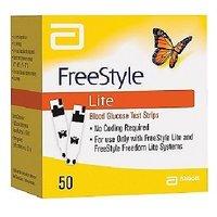Free Style 50 Strips (Lite) Blood Glucose Test Strips  ExpiryJanuary 2017