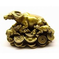 New Cow With Calf On Coins - Powerful Feng Shui Item