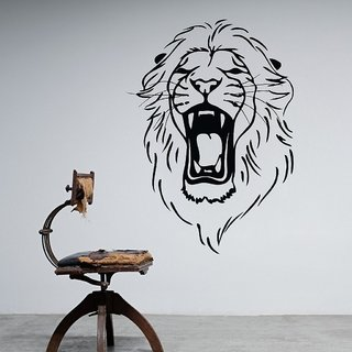Decor Villa The Lion Roar Wall Decal & Sticker
