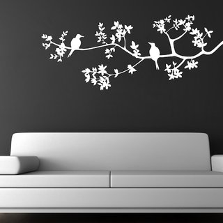 Decor Villa Birds Sitting On Tree Wall Decal & Sticker